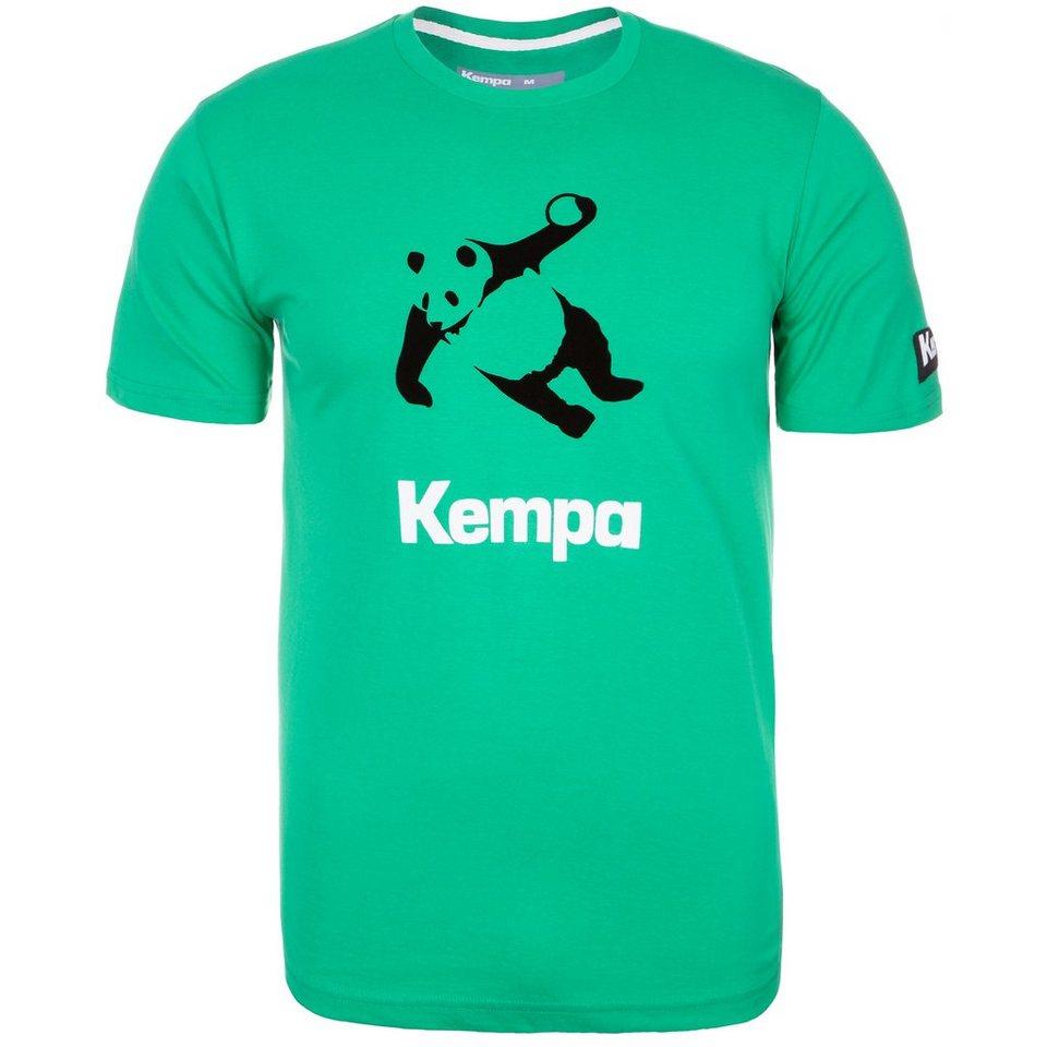 KEMPA Panda T-Shirt Herren in emerald grün/schwarz