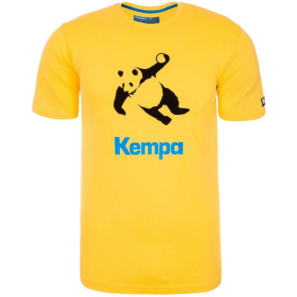 KEMPA Panda T-Shirt Herren in maisgelb/schwarz