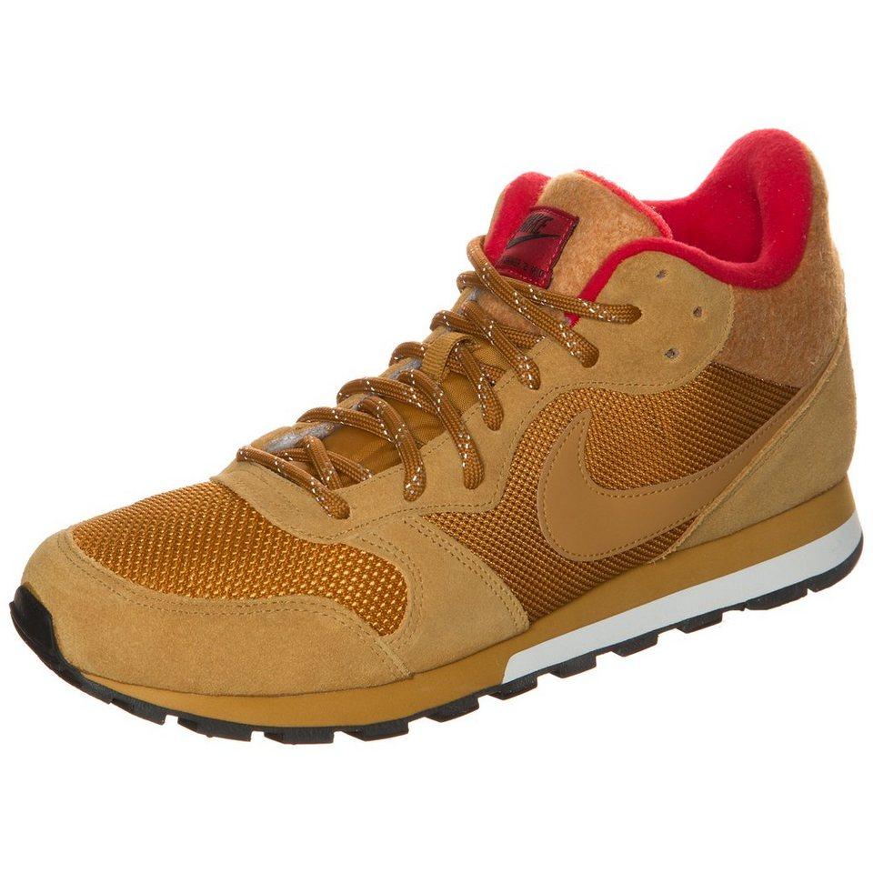 Nike Sportswear MD Runner 2 Mid Sneaker Herren in beige / rot / weiß