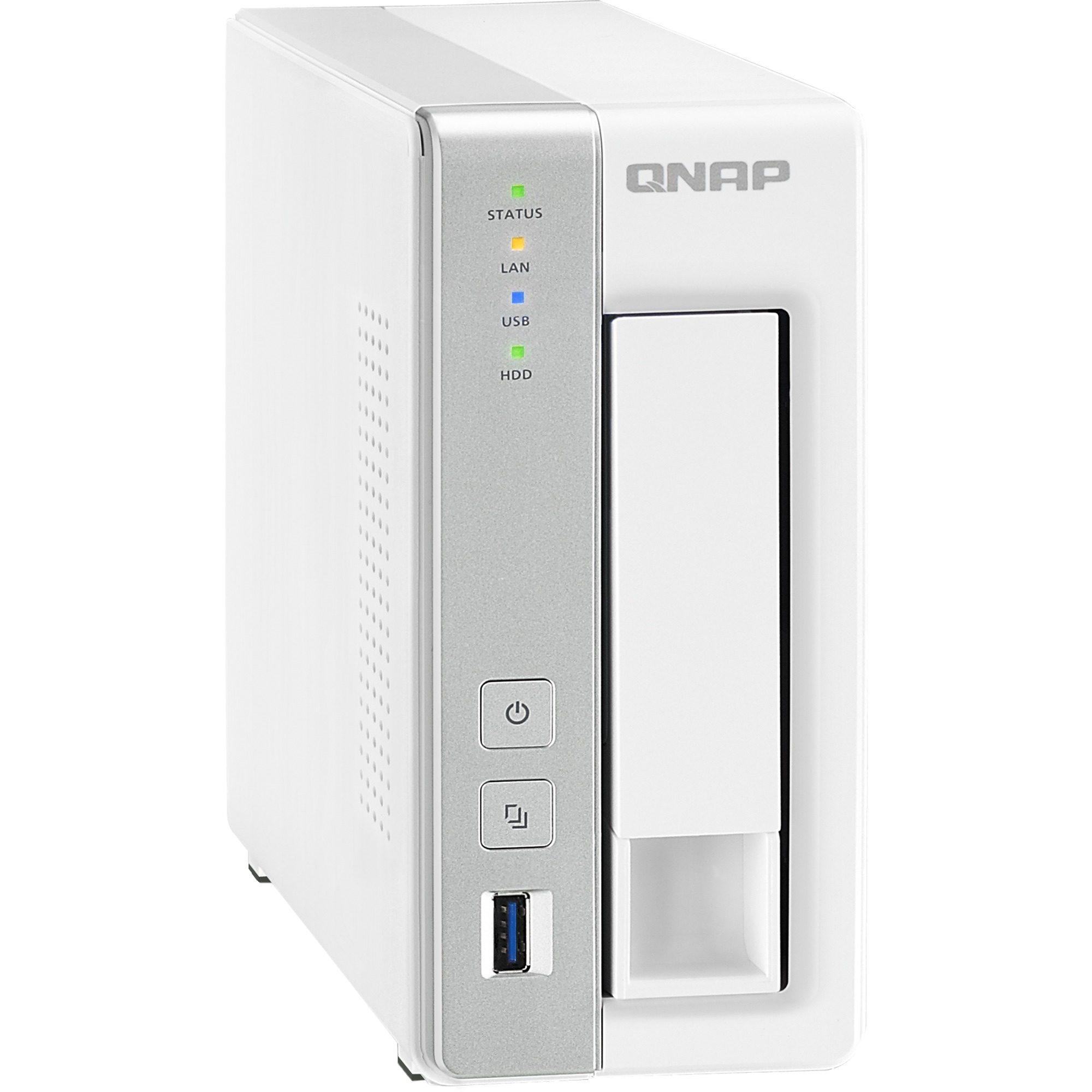 """QNAP NAS »TS-131 2x1.2GHz/512MB/1x3,5""""«"""