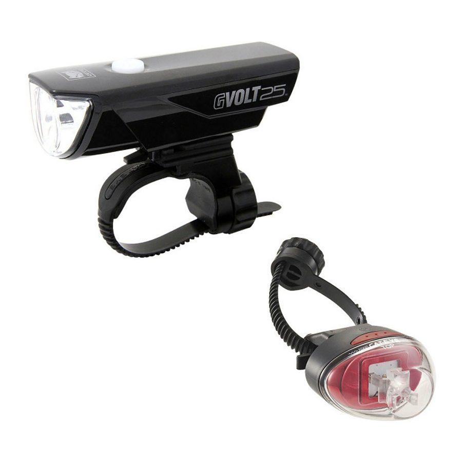 Cateye Fahrradbeleuchtung »GVOLT25/Rapid1G Beleuchtungsset EL360GRC/LD611G«