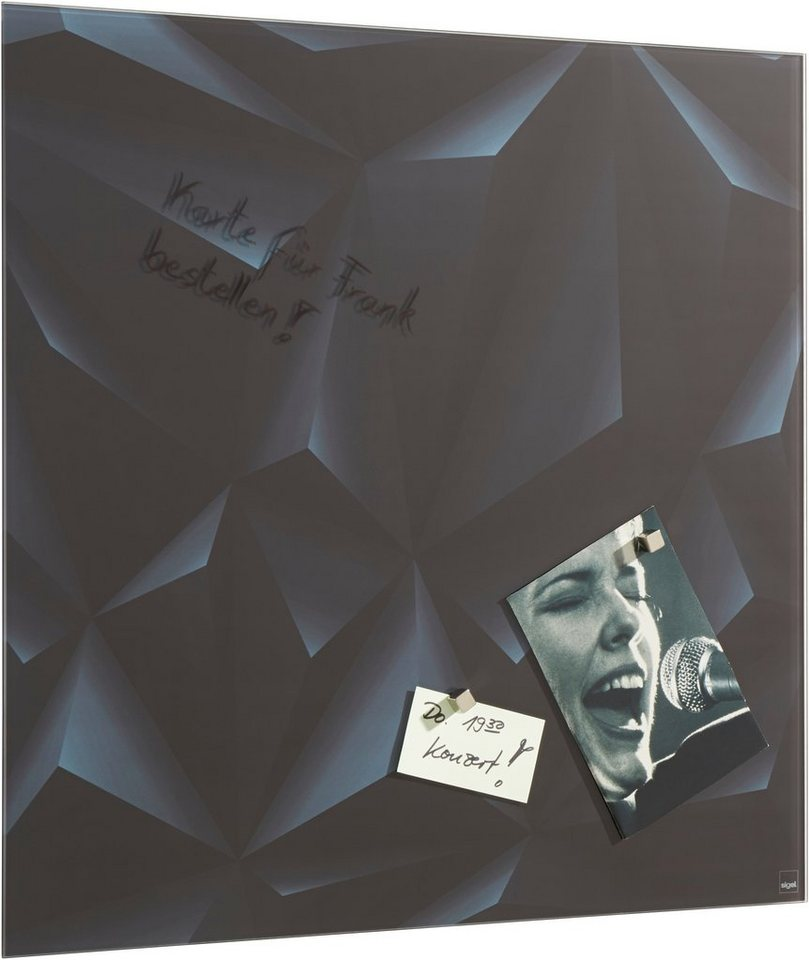 Sigel Glas-Magnettafel in black diamond