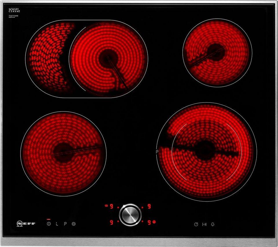 Neff Autarkes Elektro-Kochfeld mit TwistPad® Flat Bedienung TBT 1676 N / T16BT76N0