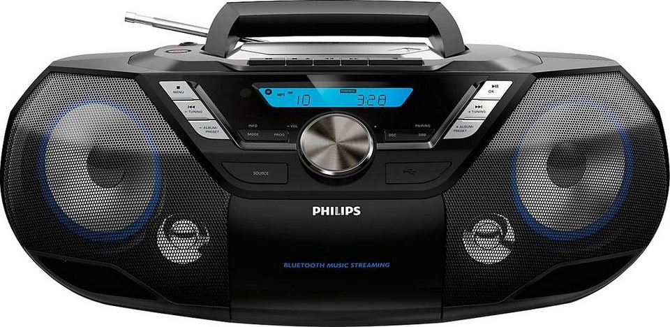 philips azb798t stereoanlage bluetooth digitalradio. Black Bedroom Furniture Sets. Home Design Ideas