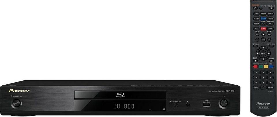 Pioneer BDP-180 3D Blu-ray-Player, 3D-fähig, 4K (Ultra-HD), WLAN in schwarz