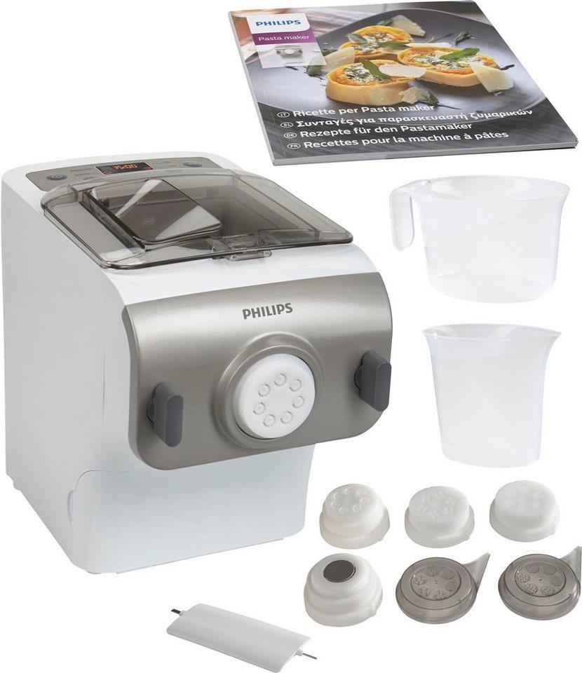 Philips Pastamaker HR2355/12 Premium Collection 200 W, inkl. Rezeptheft mit 25 Zubereitungsideen in weiß / silber