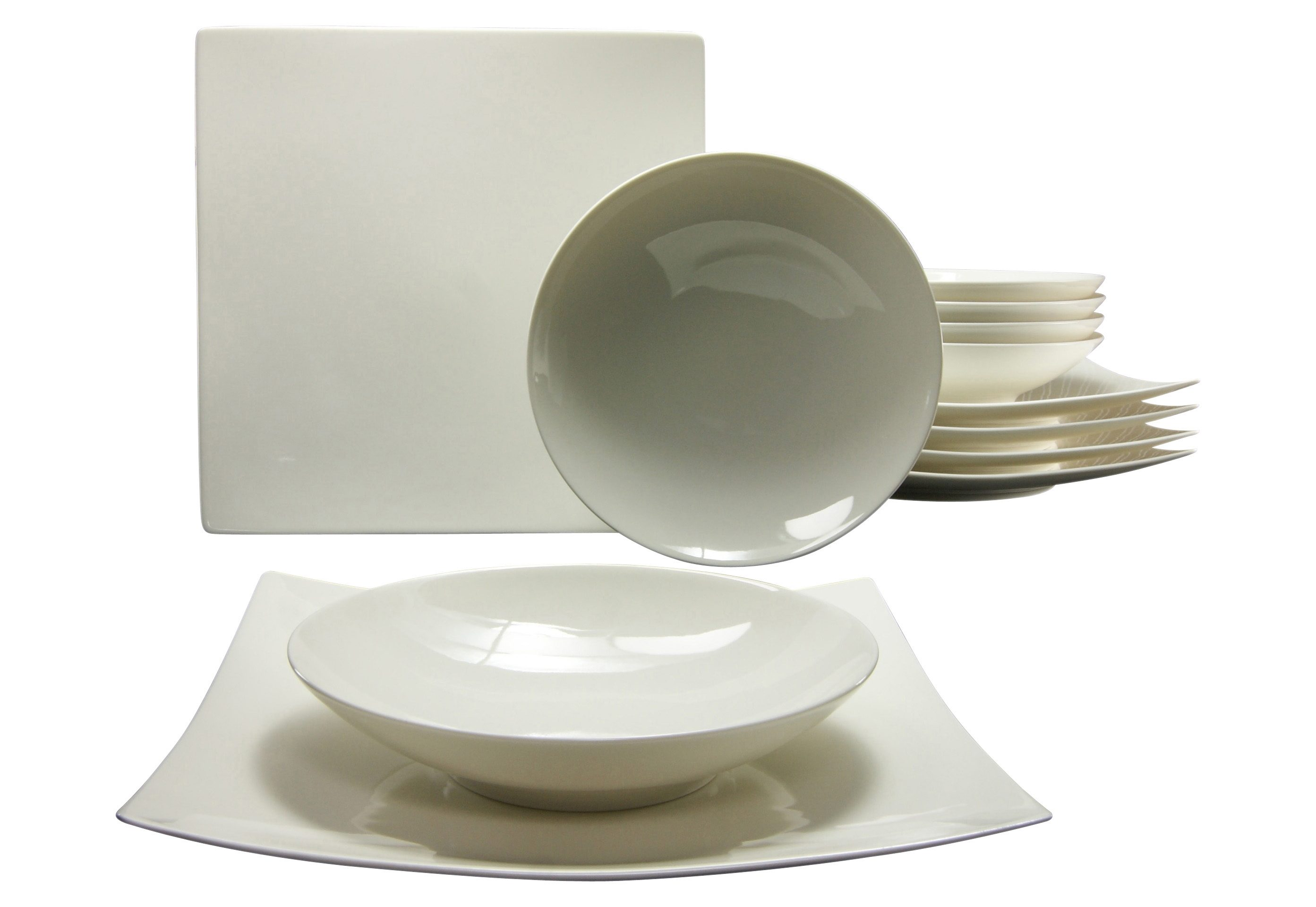 CreaTable Tafelservice, Porzellan, 12 Teile, »PURE«