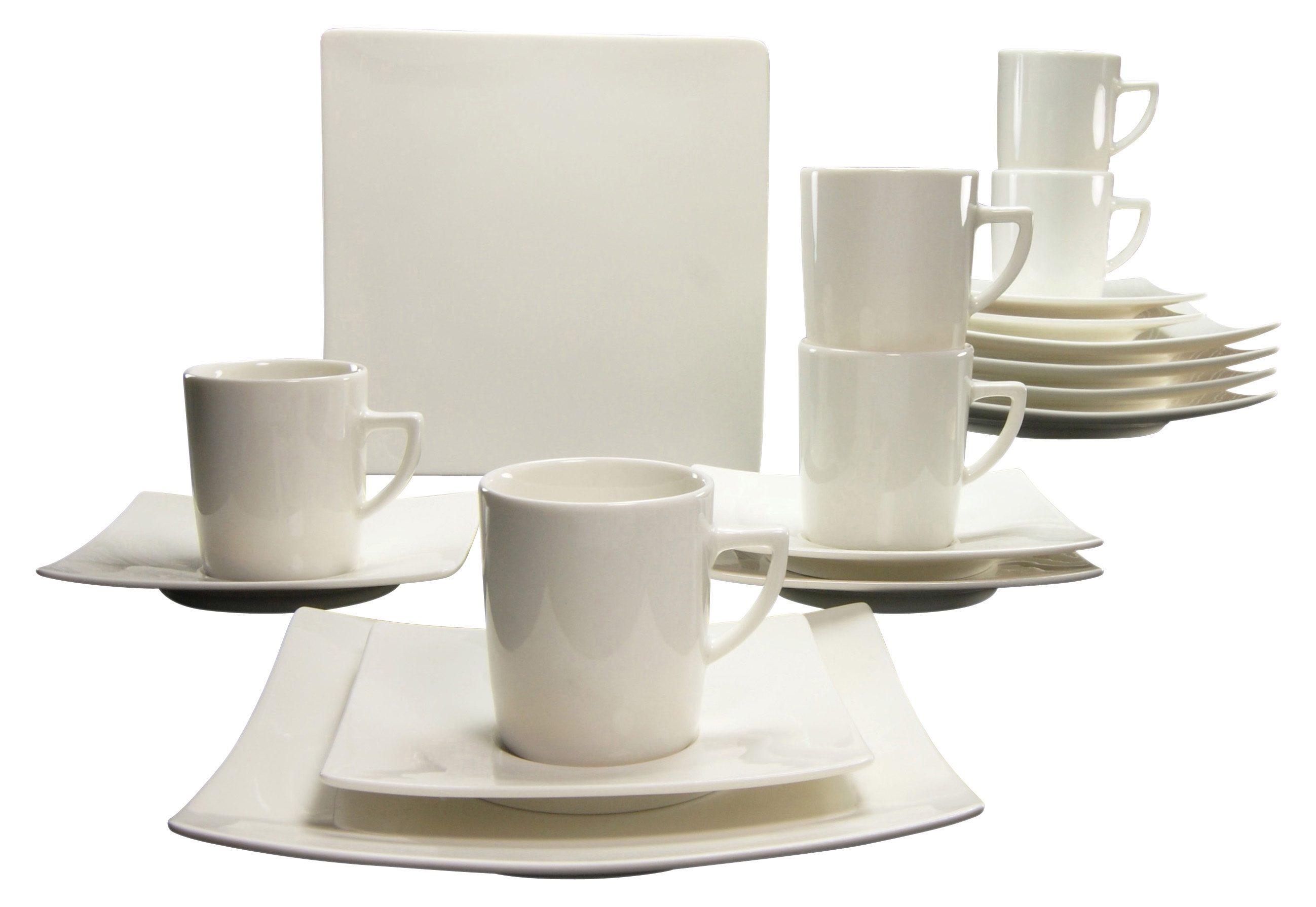 CreaTable Kaffeeservice, Porzellan, 18 Teile, »PURE«