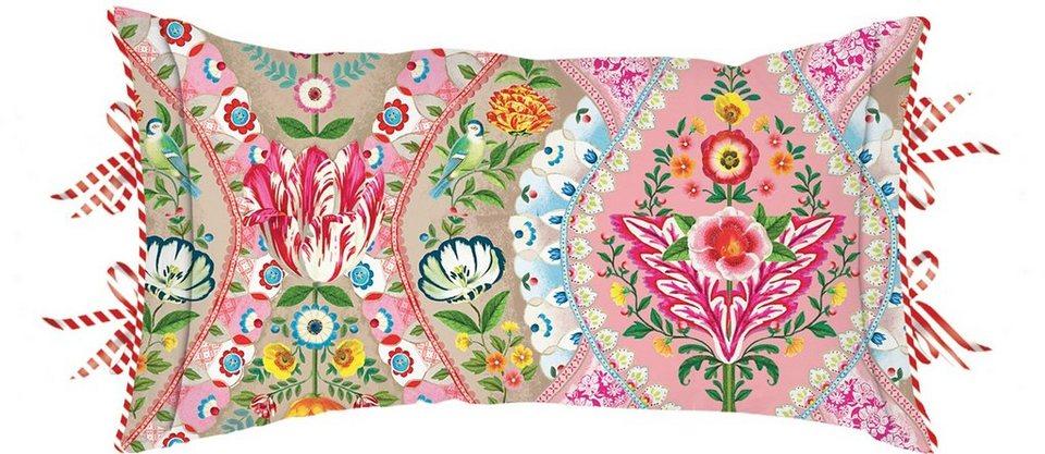 Dekokissen, PiP Studio, »Melody«, mit dekorativen Knöpfen in khaki