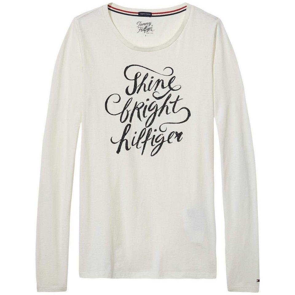 Tommy Hilfiger Homewear »Lulu shimmer cn tee ls« in EGRET