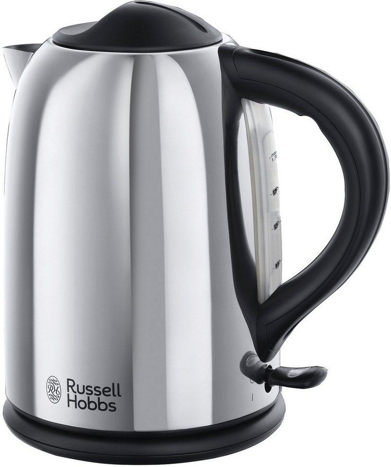 Russell Hobbs Wasserkocher Chester 20420-70, für 1,7 Liter, 2400 Watt in silber/schwarz