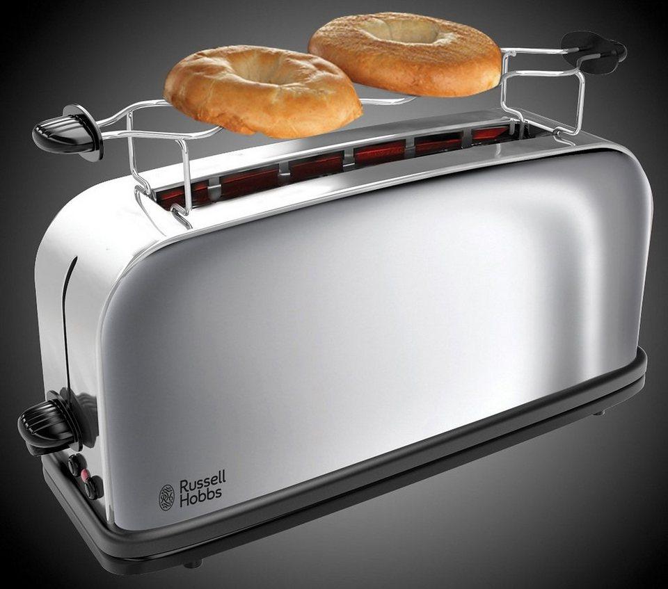 Russell Hobbs Langschlitz-Toaster Chester 21390-56, mit extra breitem Toastschlitz, 1000 Watt in silber/schwarz