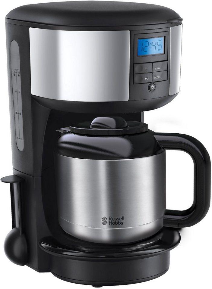Russell Hobbs Digitale Thermo-Kaffeemaschine 20670-56 Chester, für 1,1 Liter, 1000 Watt in schwarz/silber