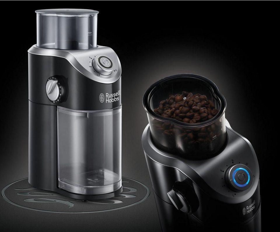 Russell Hobbs Kaffeemühle Classics 23120-56 mit hochwertigem Scheibenmahlwerk, 140 Watt in schwarz