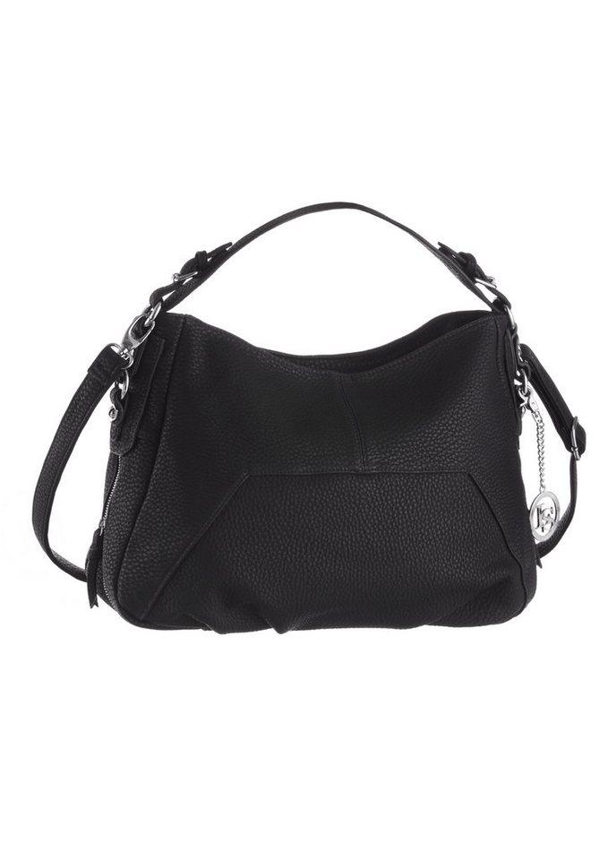 Laura Scott Hobo Bag mit Reißverschlussapplikation in schwarz