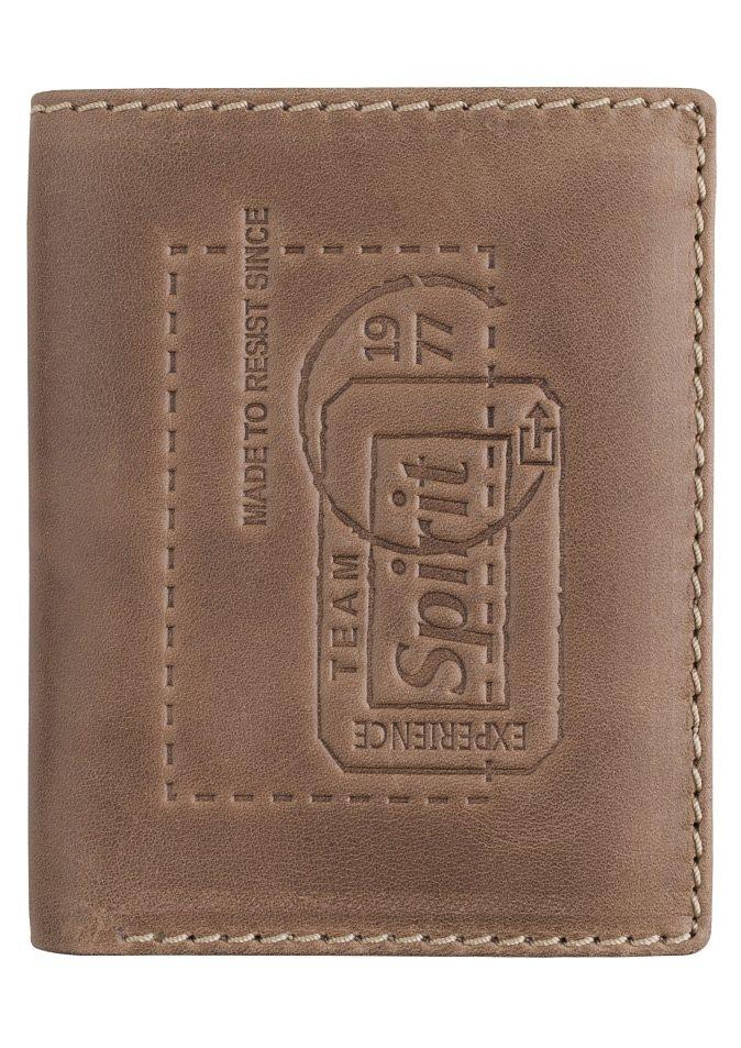 camel active Geldbörse »DETROIT« aus Leder mit Prägung in camelfarben