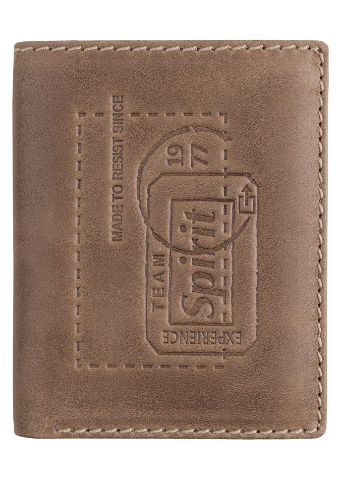 camel active Geldbörse »DETROIT« aus Leder mit Prägung