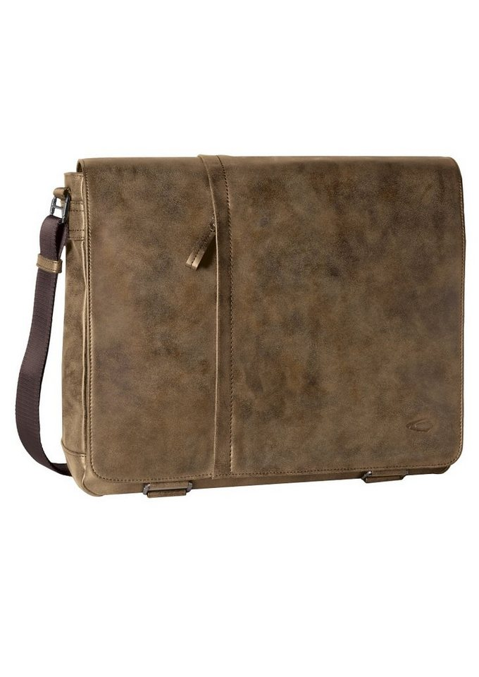 camel active Messenger Bag »HAMPTON« mit gepolstertem Laptopfach in braun