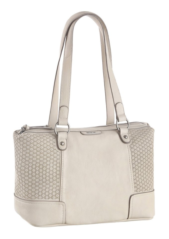 Tamaris Schultertasche mit Cut Out Muster in stone