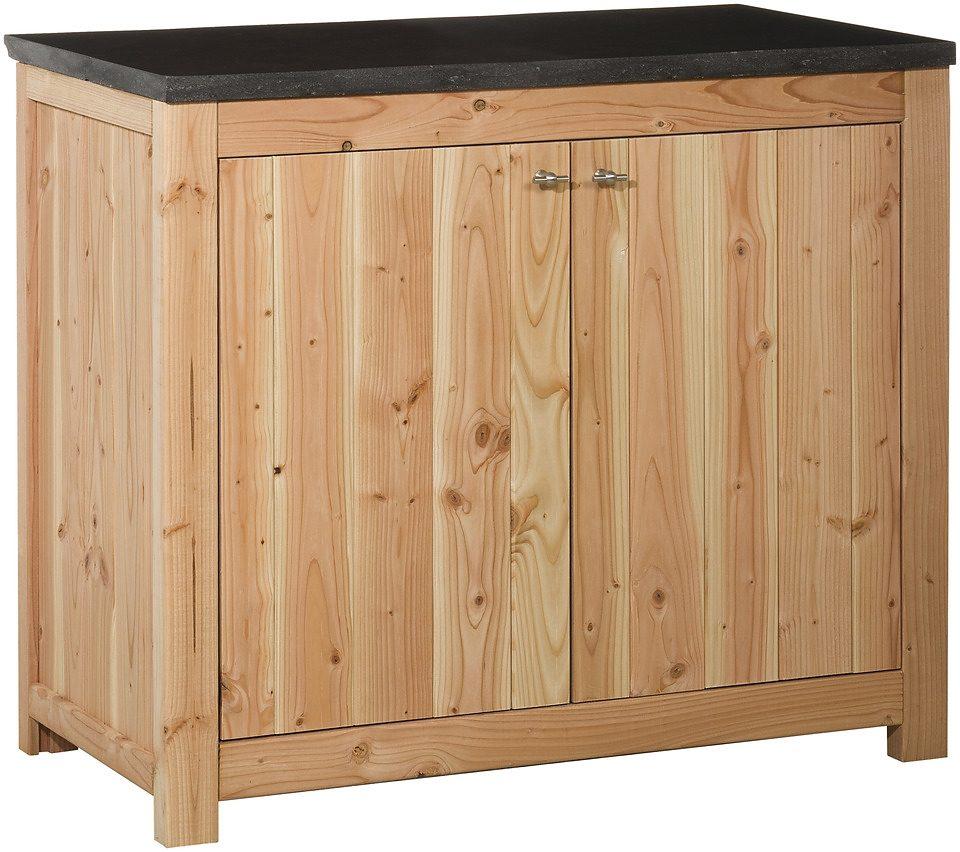 Outdoor-Küche mit Türen (B/T/H: 109/56/90 cm)