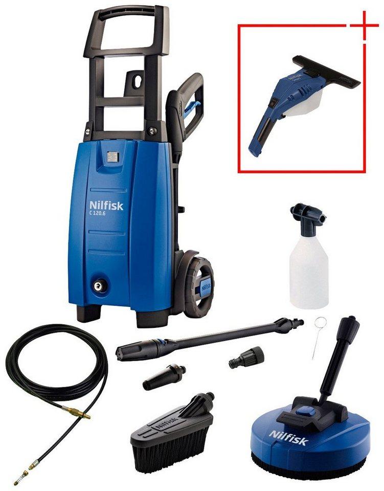 Hochdruckreiniger »C 120.6-6 PAD X-TRA« inkl. Fenstersauger »SMART Blue« in blau