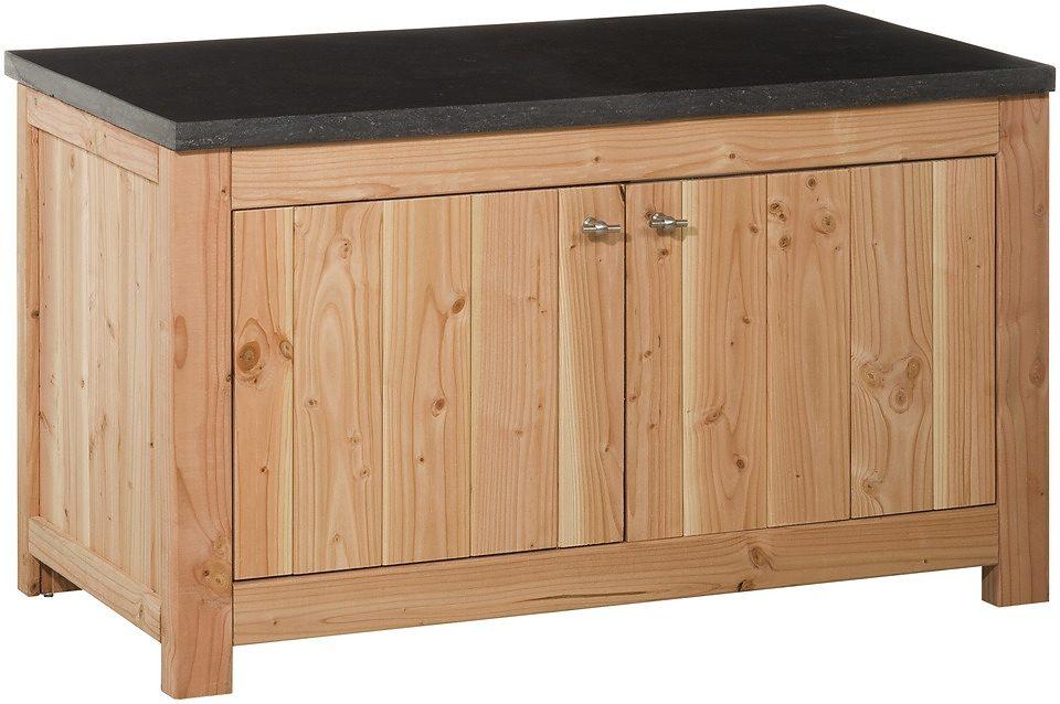 Outdoor-Küche mit Türen (B/T/H: 109/56/60 cm)