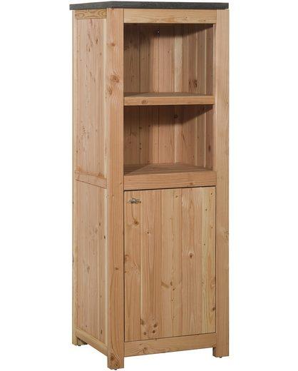 Outdoor-Küche mit Türen (B/T/H: 62/56/168 cm)