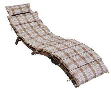 gartenliege capri polyrattan klappbar braun inkl. Black Bedroom Furniture Sets. Home Design Ideas