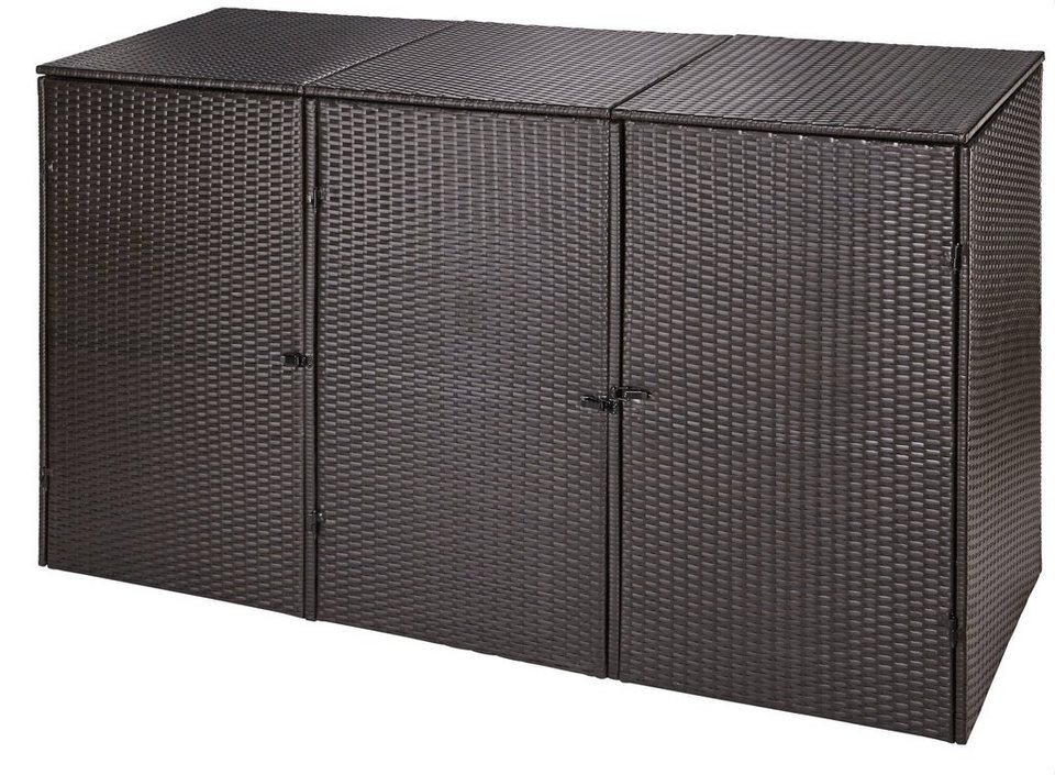 m lltonnenbox f r 3x120 l aus polyrattan b t h 189 66 109 cm online kaufen otto. Black Bedroom Furniture Sets. Home Design Ideas