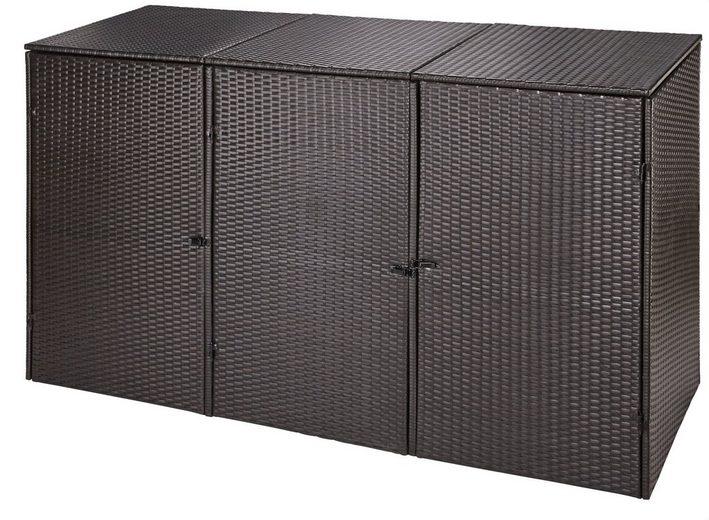 m lltonnenbox f r 3x120 l aus polyrattan b t h 189 66 109 cm online kaufen otto. Black Bedroom Furniture Sets. Home Design Ideas