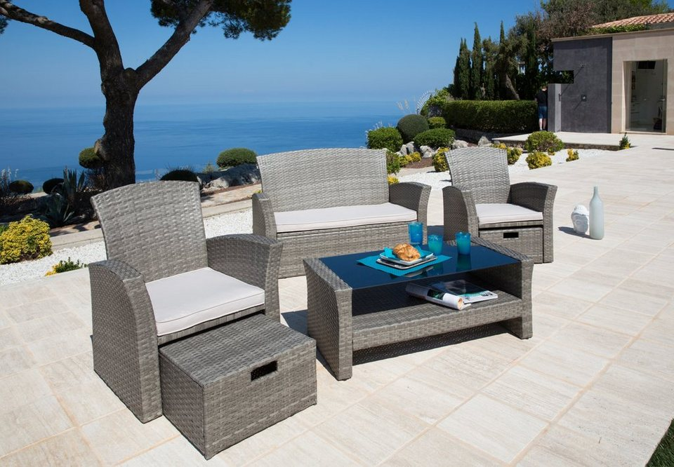 Konifera Loungeset Salerno Premium 9 Tlg 2er Sofa 2 Sessel