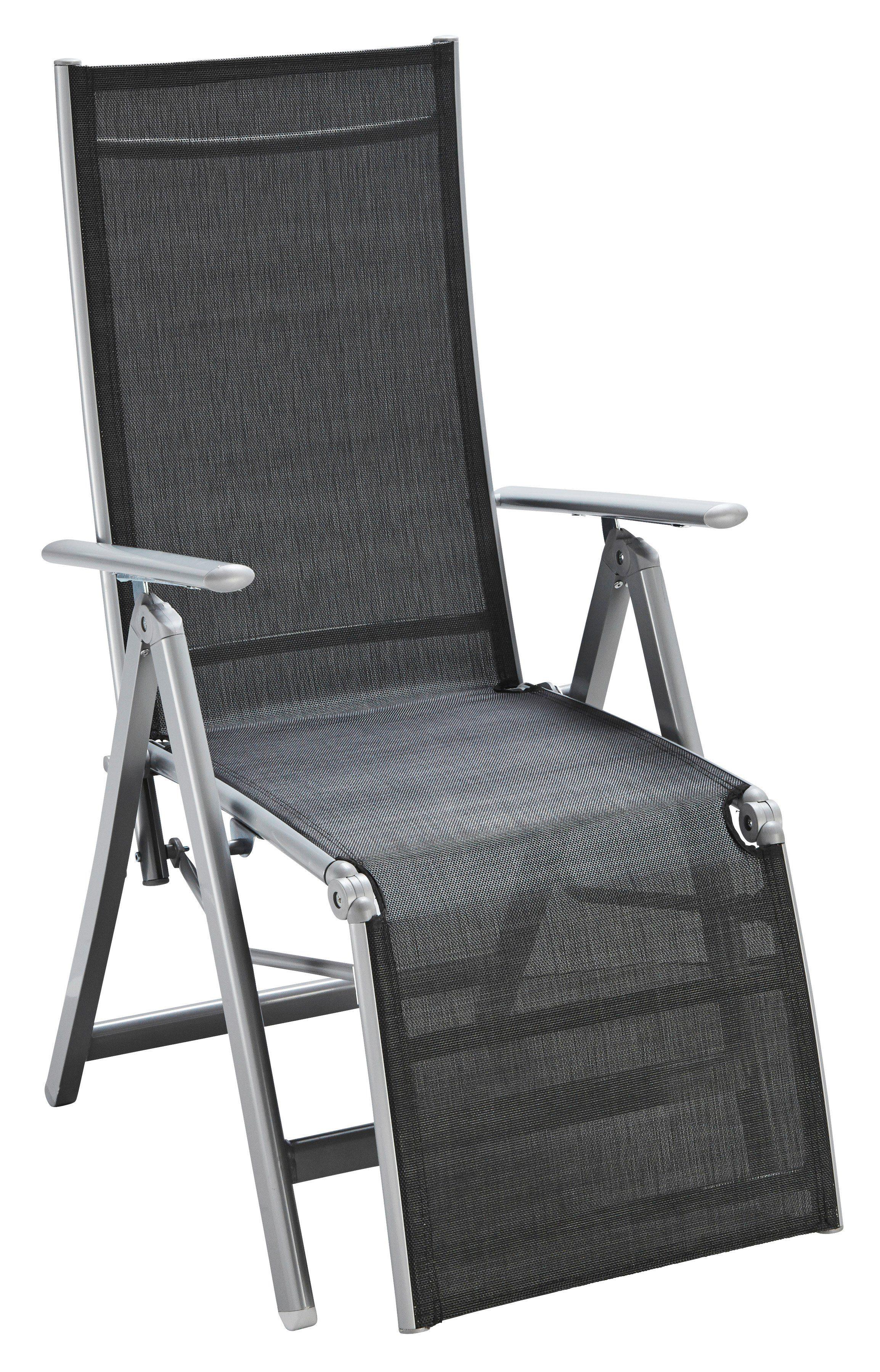 Relaxsessel »Lima«, Alu/Textil, verstellbar, klappbar, schwarz