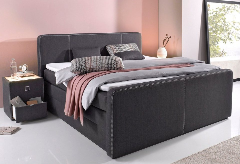 boxspringbett mit bettkasten schubladen kaufen otto. Black Bedroom Furniture Sets. Home Design Ideas