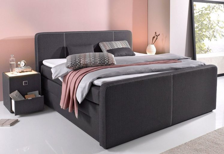 boxspringbett mit bettkasten kunden und erfahrungsberichte. Black Bedroom Furniture Sets. Home Design Ideas