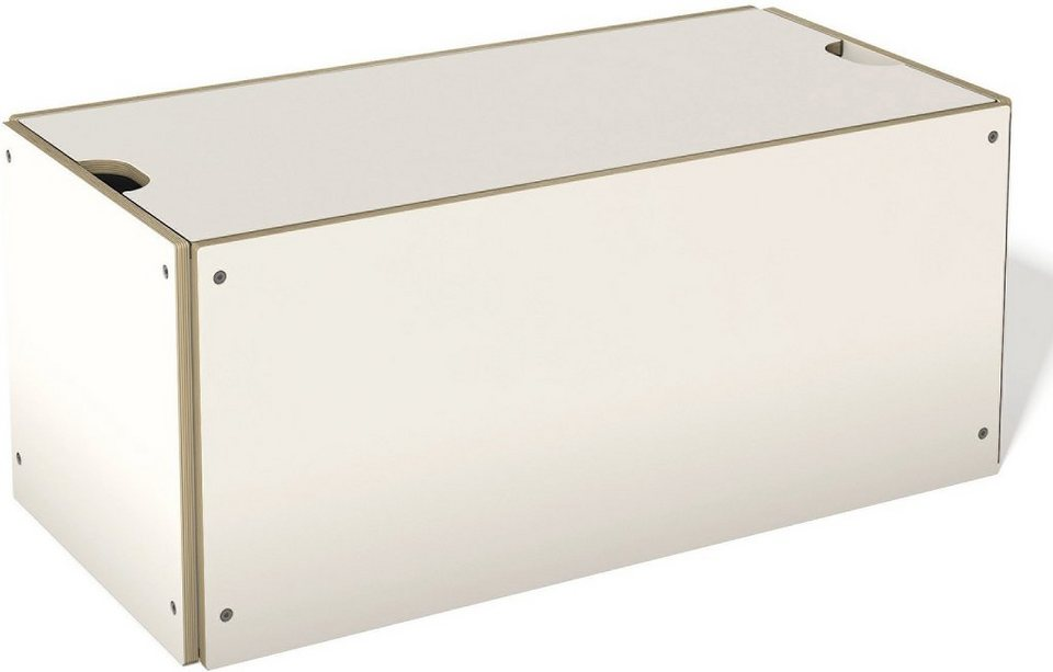 müller möbelwerkstätten® Bettkasten, passend zur »STAPELLIEGE« Normalhöhe in weiß mit Birkenkante