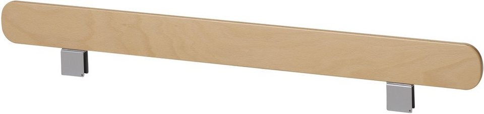 müller möbelwerkstätten® Begrenzungsleiste »STAPELLIEGE« in weiß mit Birkenkante