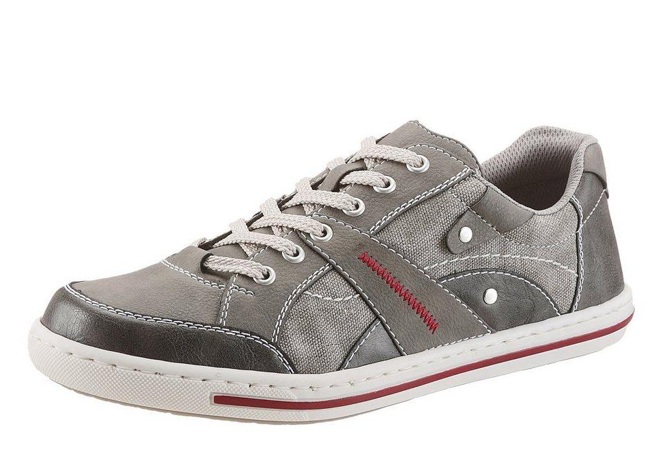 RIEKER Sneaker mit gepolsterter Sohle in grau used