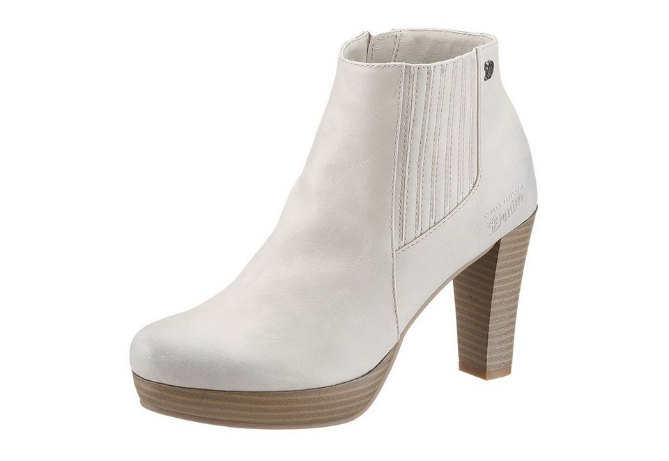 Tom Tailor Stiefelette in offwhite