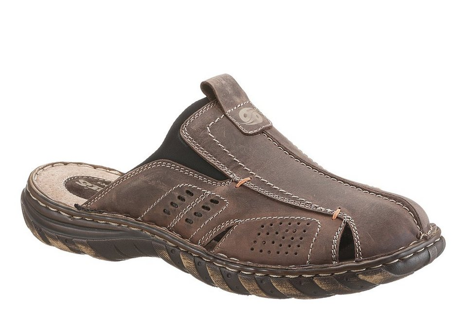 Dockers Clog im Materialmix in braun used