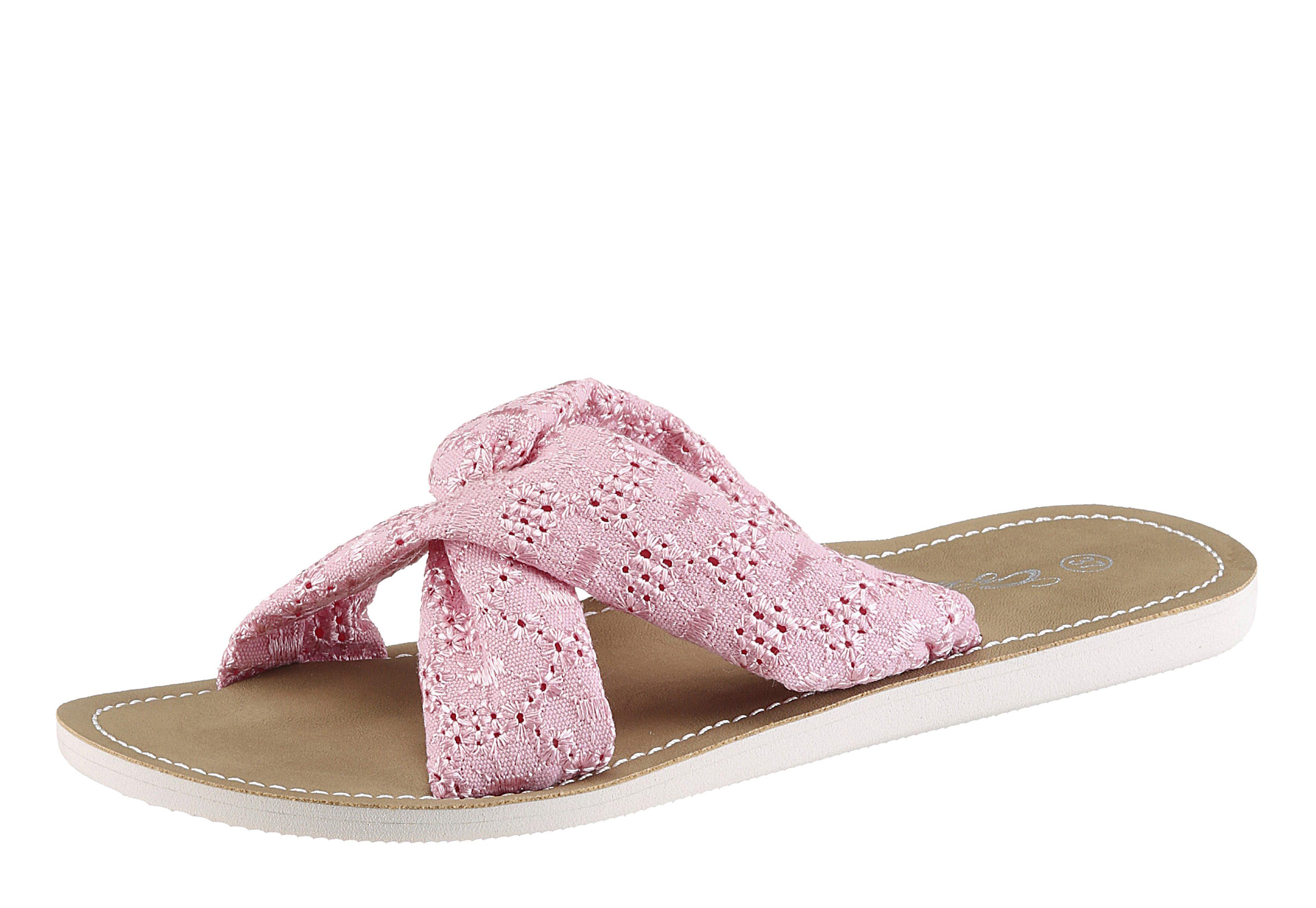 VERBENAS Pantolette, mit ergonomisch geformtem Fußbett, rosa, EURO-Größen, pink