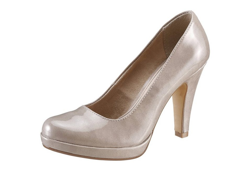 Tamaris High-Heel-Pumps in taupe