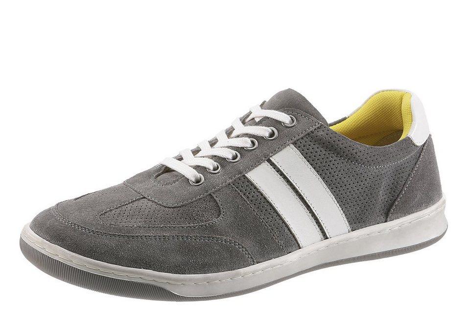 Petrolio Sneaker mit Perforierung in grau