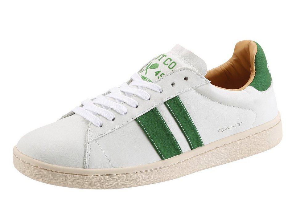 GANT Sneaker mit Zierstreifen in weiß-grün