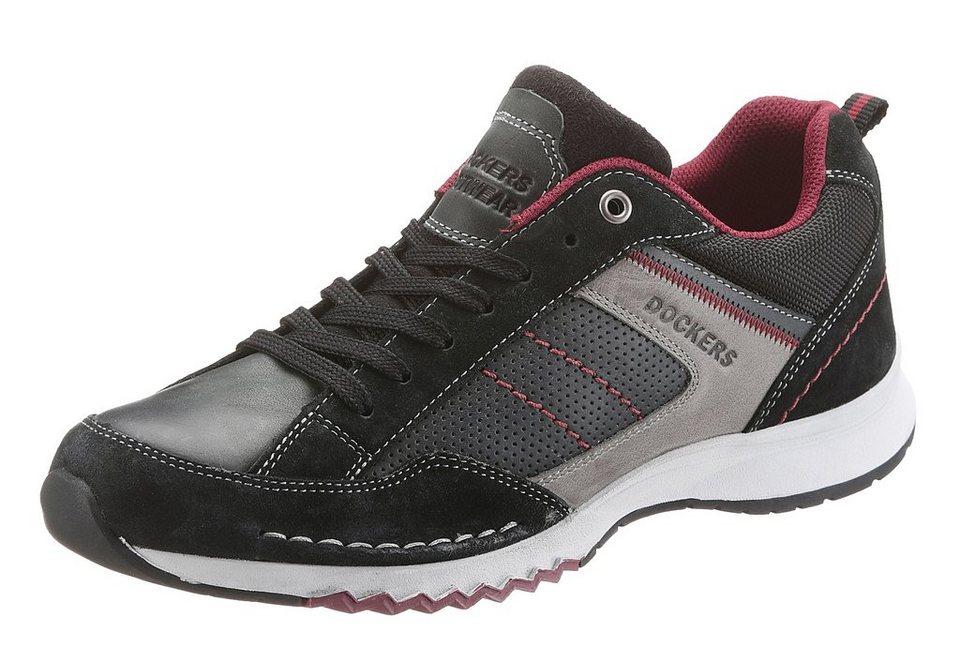 Dockers Sneaker mit heller Sohle in schwarz-kombiniert