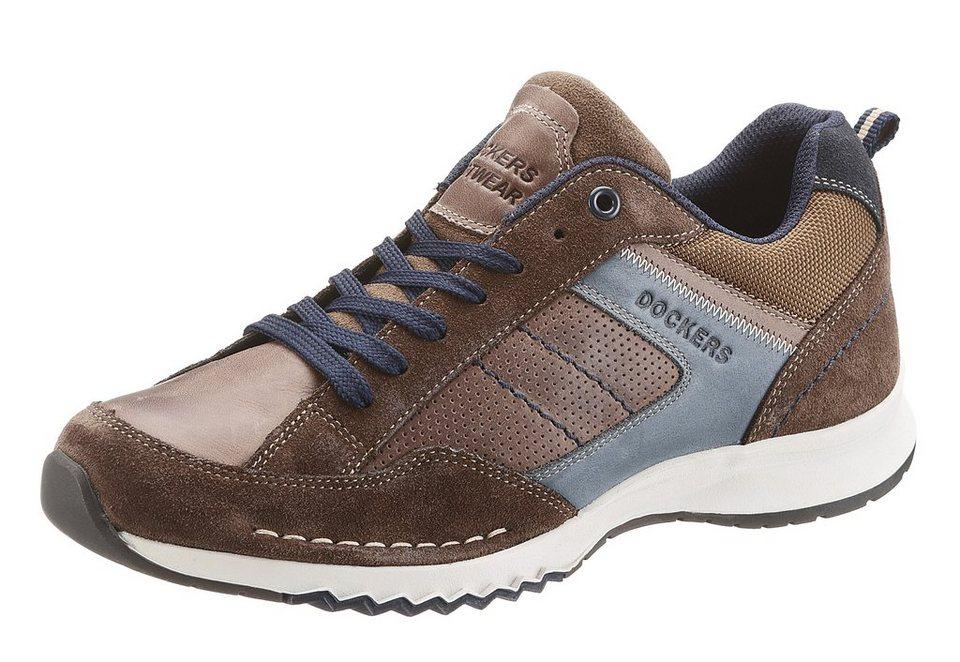 Dockers Sneaker mit heller Sohle in braun used