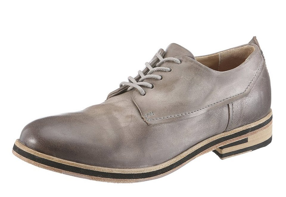 A.S.98 Schnürschuh im Used Look in grau used
