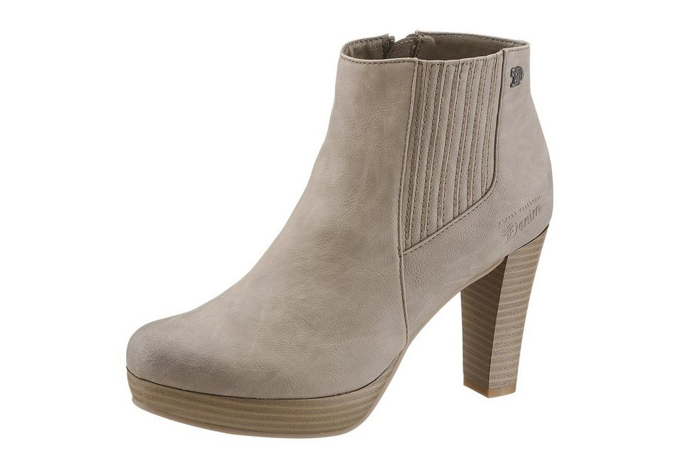 Tom Tailor Stiefelette in taupe used