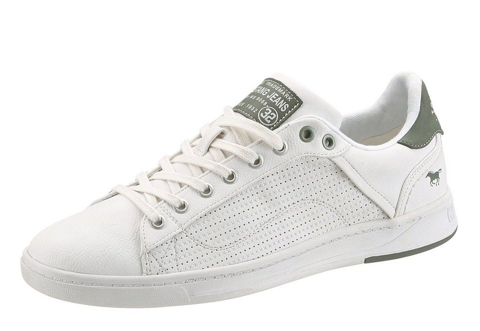 Mustang Shoes Sneaker in offwhite-grün