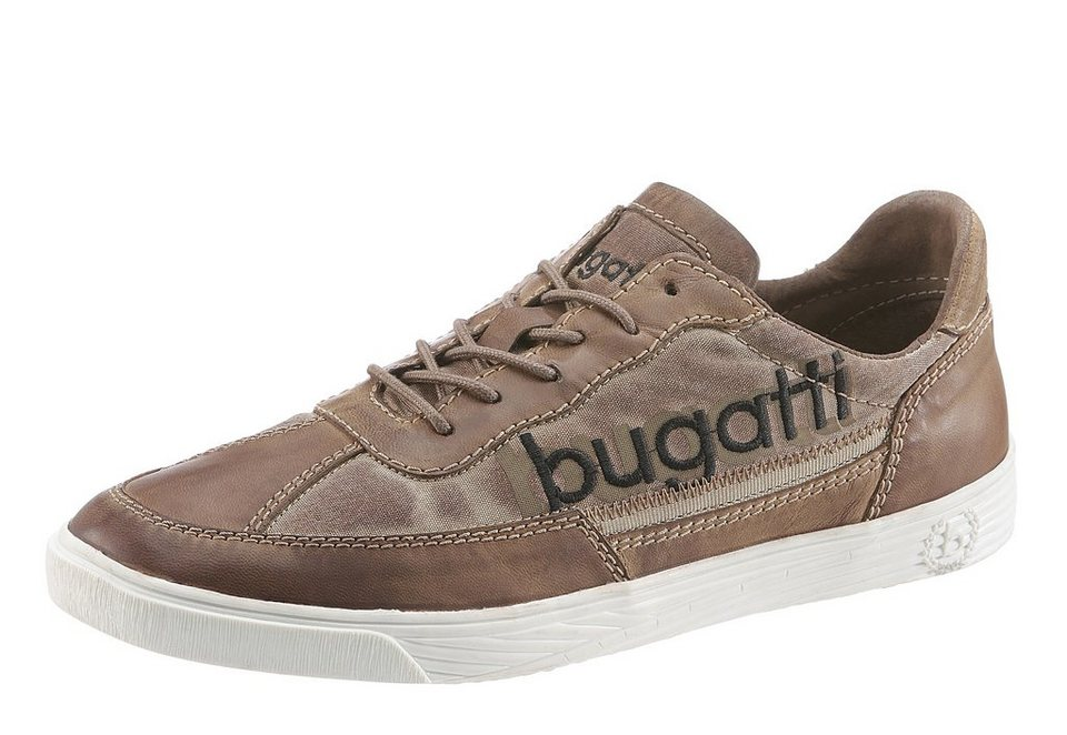 Bugatti Sneaker im Material Mix in braun used