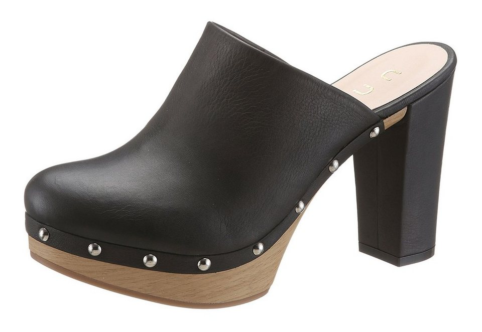 Unisa High Heel Sabot in schwarz